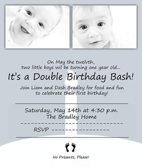 First Birthday Invitations censored