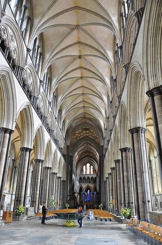 Nave at Salisbury Cathedral