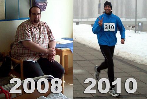 Wie Sascha in einem Jahr 80 Kilo abnahm. Vorher - Nachher