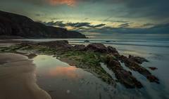 Plemont bay No. 5 (Tim_Horsfall) Tags: seascape landscape rocks usm is f4l ef1635mm 6d eos canon beach coast water sand sea ocean tide waves sunset sky clouds jersey uk plemont