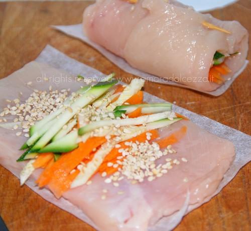pollo e verdure preprazione