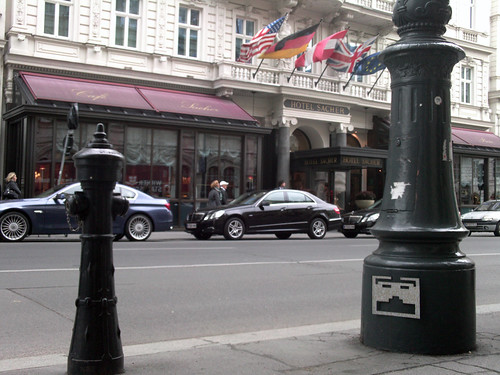 HOTEL SACHER - FLYING SAUCER-SHAPED UFO SPACE INVADER