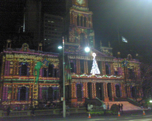 Sydney Town Hall light up