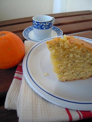 torta di donna hay arancia e papavero