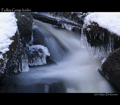Padley Gorge Icicles (IHD Photography) Tags: park winter snow water exposure slow pentax district derbyshire peak national gorge icicles padley k20d smcda50135mmf28