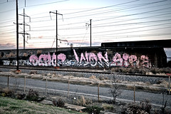 BIG (damonabnormal) Tags: railroad november streetart ed graffiti nikon paint painted tag traintracks saturday rr roadtrip tags tagged urbanart infrastructure deleware spraypaint graff sire f25 2010 dx tagz d90 1755mm philadelphiastreetart philadelphiagraffiti wallbomb dephr philadelphiaurbanart