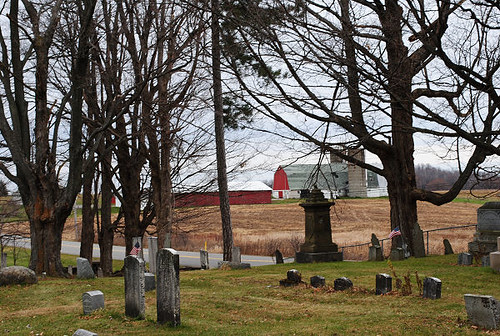 red barn w cemetery