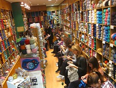 Knitting is the Art we practice every Saturday (sifis) Tags: city baby art socks shopping sweater knitting silk knit merino visit athens class greece jacket learn pullover handknitting alpaka