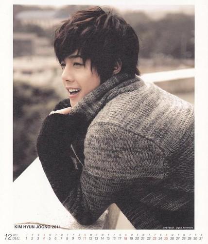 Kim Hyun Joong 2011 Calendar December