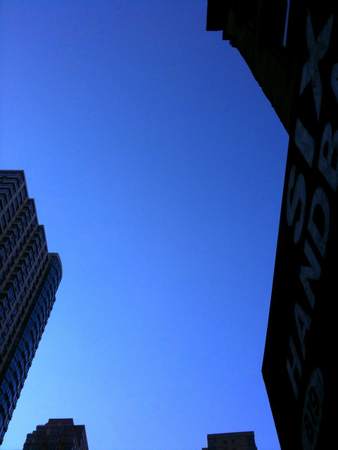 blue skies #walkingtoworktoday