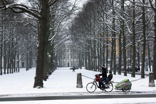 Bicicleta na neve em Hai