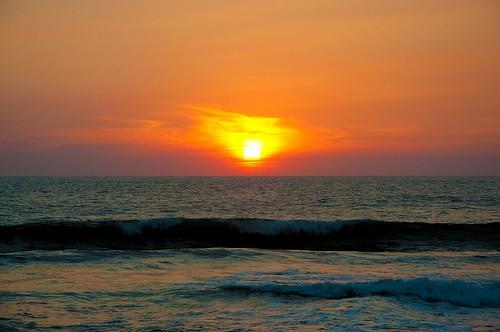 Ocaso en la playa (2)
