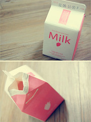 Fave. (starsinmysocks) Tags: milk strawberry nikon diptych dof drinks milkcarton dips nikond40