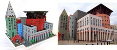 My Lego Denver Public Library & the Real One. (Imagine) Tags: building architecture modern toys colorado lego denver minifig michaelgraves denverpubliclibrary moc foitsop imaginerigney