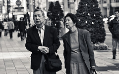 Just wondering, Ginza  (adde adesokan) Tags: street travel portrait people blackandwhite bw white black face japan pen photography tokyo streetphotography olympus nippon tokio streetphotographer m43 mft mirrorless microfourthirds theblackstar mirrorlesscamera streettogs