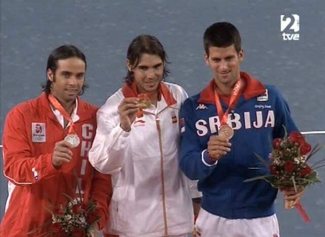 Fernando Gonzalez, Rafael Nadal and Novak Djokovic