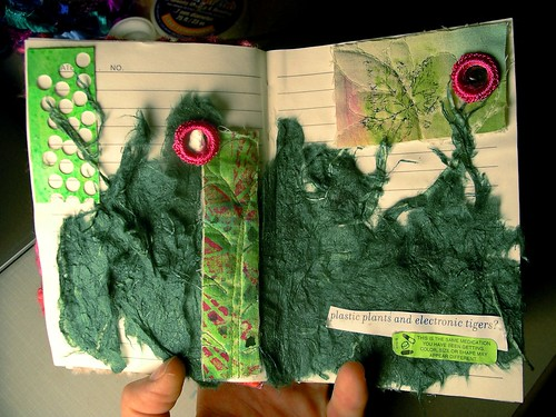 Art journal page - greenery