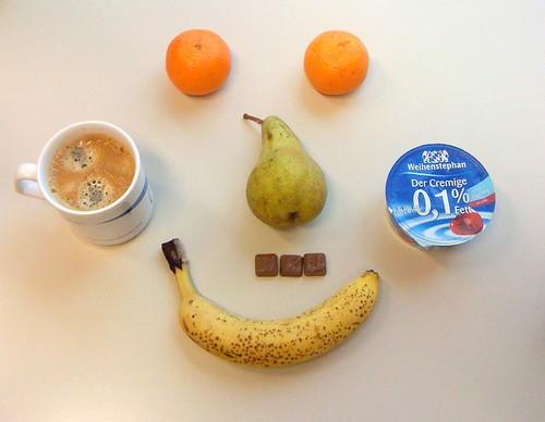Der Cremige, Adventkalenderschokolade & Obst