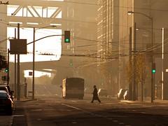 Taking Care of Business (Chris Saulit) Tags: sf sanfrancisco california morning bus northerncalifornia backlight sunrise dawn early haze market pedestrian commute baybridge bayarea norcal beale samtrans sfobb