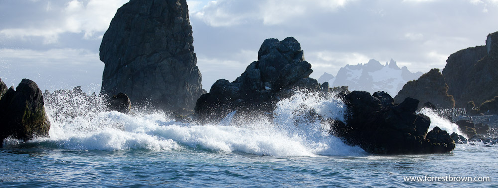 Rocks, South Georgia, Waves