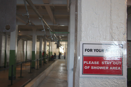 For your safety, please stay out of the shower area