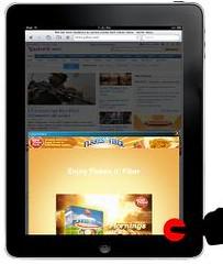 Yahoo iPad ad