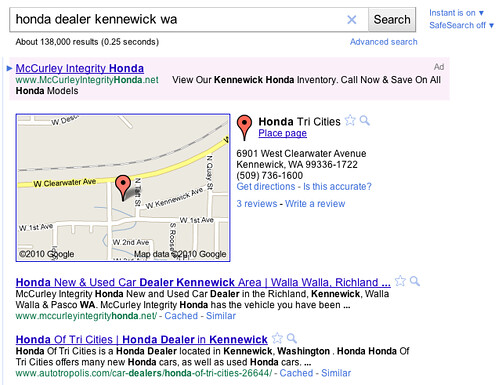 Google Places SERP Displays #5