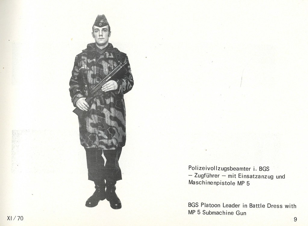 BGS Platoon Leader in Battle Dress with MP 5 Submachine Gun