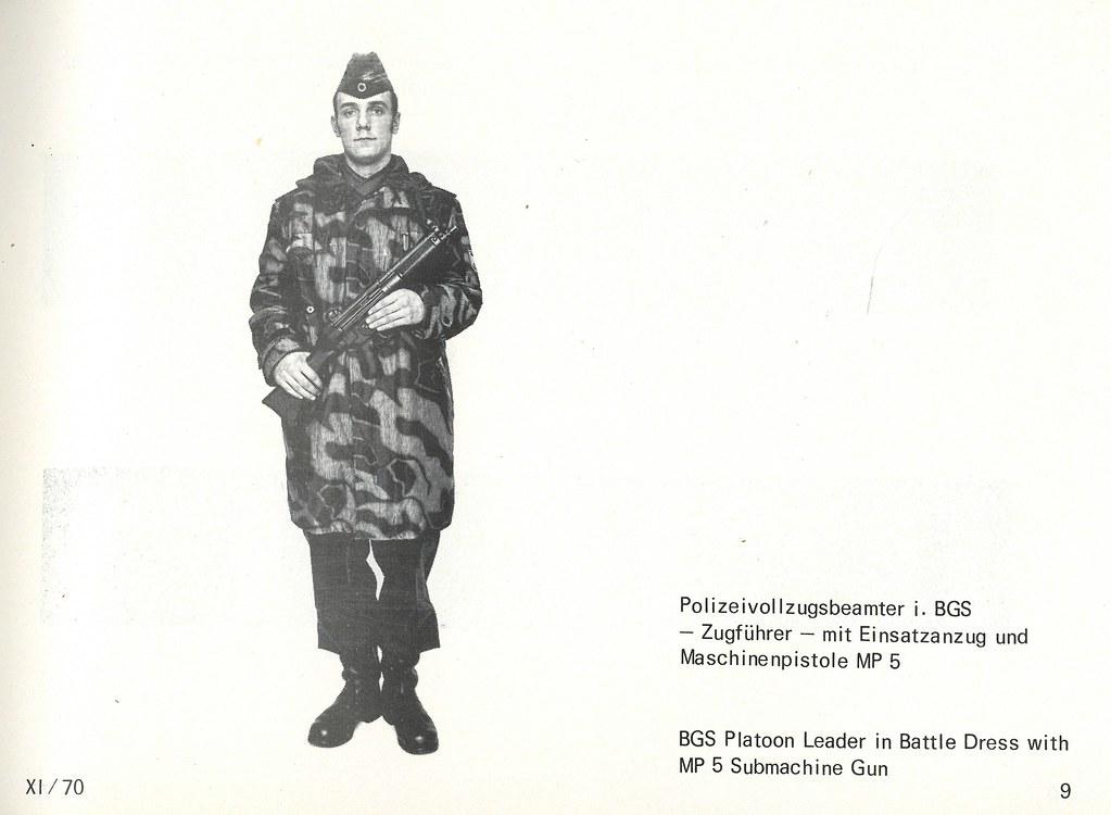 BGS Platoon Leader in Battle Dress with MP 5 Submachine Gun