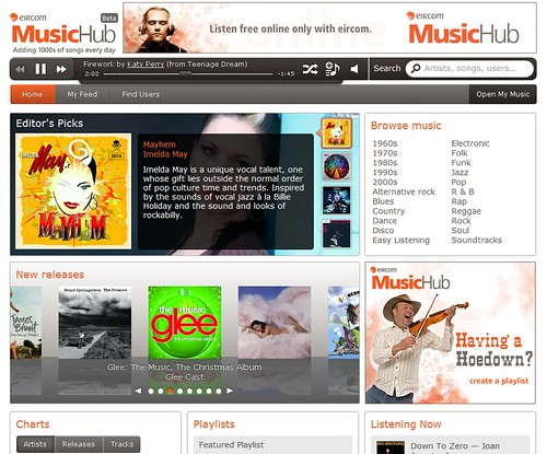 eircom music hub logged in