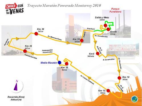 Ruta Maratón de Monterrey