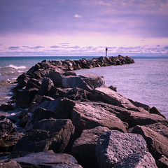 (PP008) Tags: lighthouse lake ontario square 50mm nikon rocks carlzeiss d700