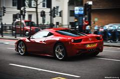 Ferrari 458 Italia (Willem Rodenburg) Tags: red 3 colour london yellow photoshop nikon italia united bordeaux picasa kingdom ferrari brakes 1855 rosso combination willem londen combo lightroom bespoke 458 d40 rodenburg