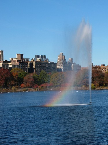 Fountain in the Jaqueline Kennedy Onassis Reservoir