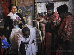 portrait of the initiation (David Mor) Tags: portrait baby church jerusalem mother monk priest initiation tewahedo ethiopion holysepulchere