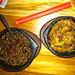 :: Salteado de vegetales con noodles / Crazy Mongolian flaming barbecue ::