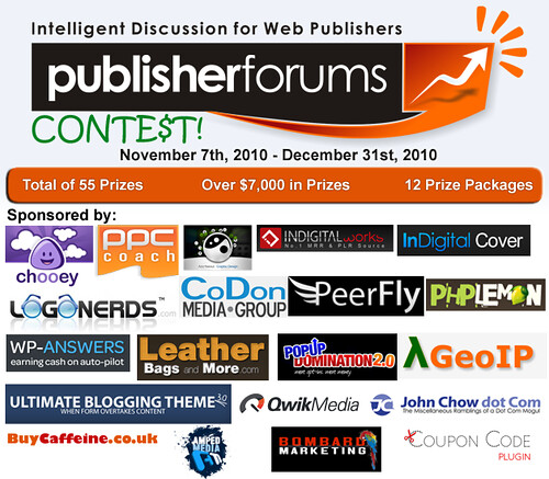 Publisher Forums Contest