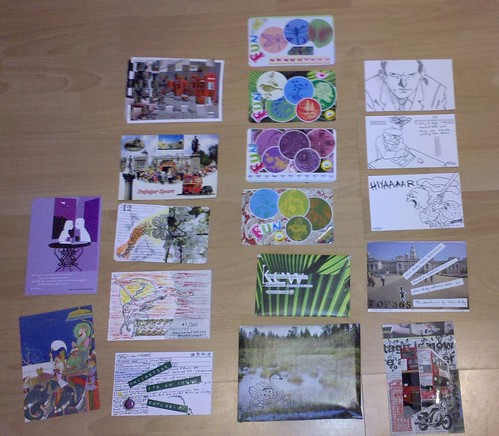 18 postcards in the outbox - 13 December 2010
