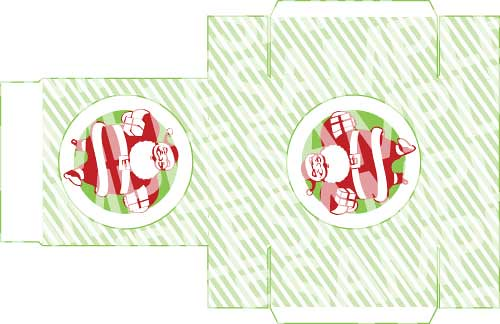 Retro Santa Printable Gift Box