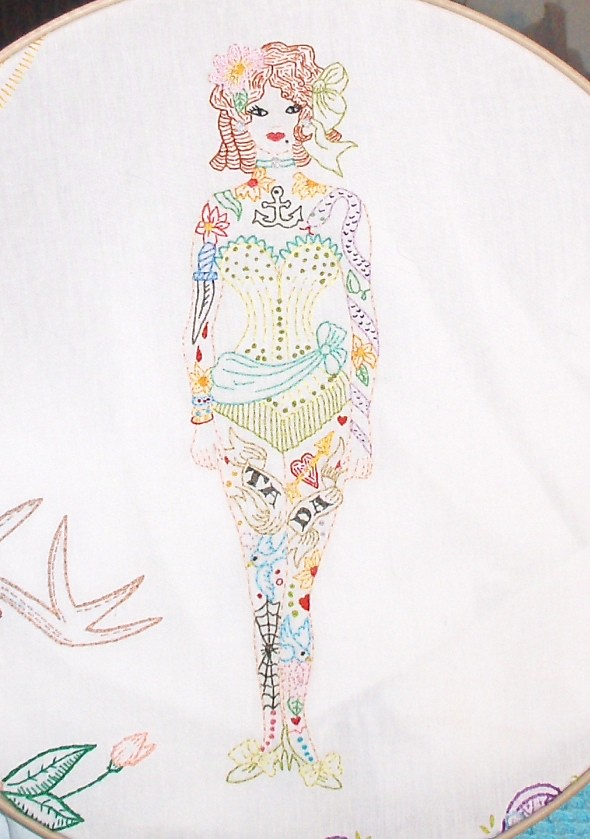 Tattooed Lady / Sew Lovely Embroidery pattern