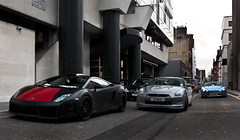 Winter Combo. (Alex Penfold) Tags: street camera blue red black london cars alex sports up car canon photography grey photo cool nissan shot martin awesome picture fast super spot victory dirty line 150 exotic photograph ii lp modified carbon lamborghini supercar v8 aston matte exotica gallardo vantage 2010 supercars combo gtr hamann penfold tuned shmee 450d hpyer lp560 lp5604 shmee150
