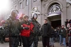 Detaining an activist (varjagg) Tags: 2005 35mm riot rally police demonstration 100 jupiter12 belarus dictator elections protests minsk f28 troops arrest dictatorship detention 7200 kiev4a profoto   authoritarian  lukashenko plustek   opticfilm     corridon