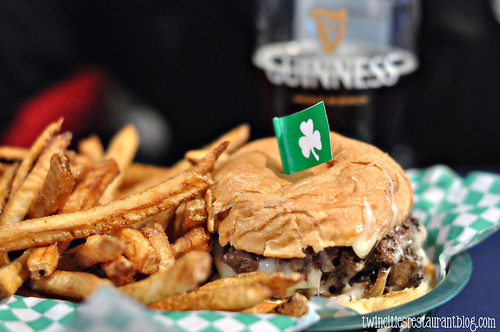 Mushroom Swiss Burger at Shamrock's ~ St Paul, MN