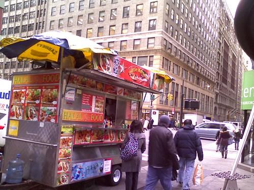 Little Morocco Halal Cart 39th and 7th Ave NY NY