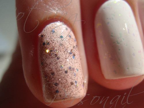 ChG White on White & OPI Teenage Dream