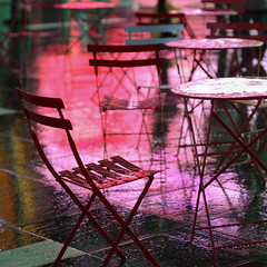 Be happy (aftab.) Tags: colors rain reflections manhattan timessquare happyholidays