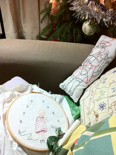 Christmas night embroidery