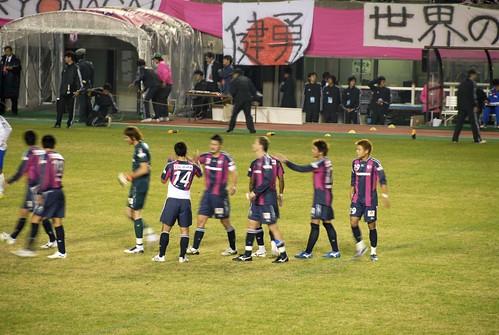 勝利後の家長昭博@セレッソ大阪 VS 横浜マリノス