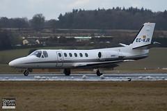 EC-KJR - 551-0412 - Nord Jet Airlines - Cessna 551 Citation II SP - Luton - 100224 - Steven Gray - IMG_7301