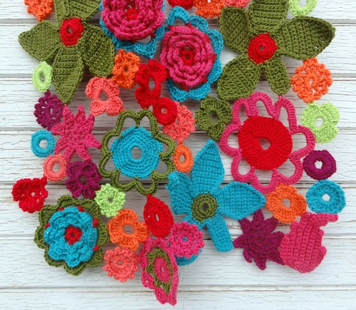Flower Power Crochet Scarf